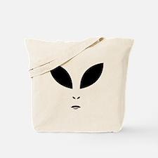 Alien Black Eyes Tote Bag