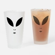 Alien Black Eyes Drinking Glass