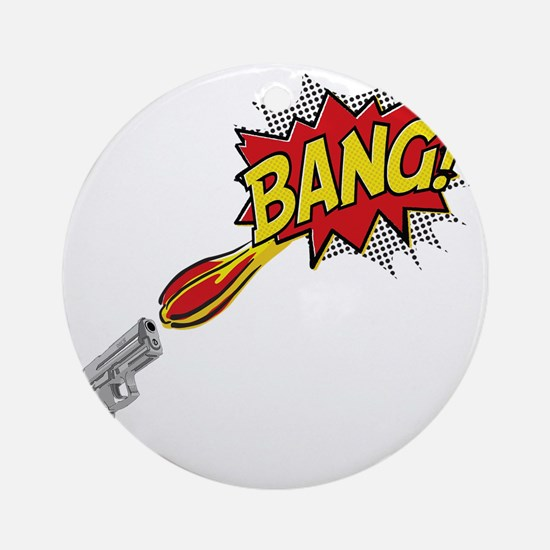 2-Bang Round Ornament