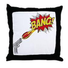 2-Bang Throw Pillow