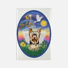 Twilight - Yorkshire Terrier Ange Rectangle Magnet