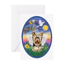 Twilight - Yorkshire Terrier Angel ( Greeting Card