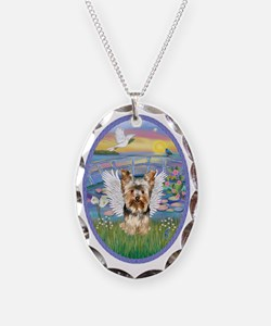 Lilies - Yorkshire Terrier 17 Necklace