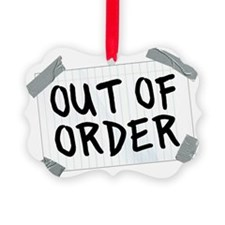 Out of Order Hat Ornament