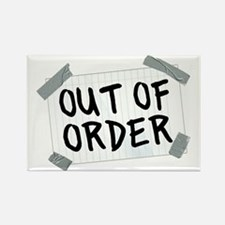 Out of Order Hat Rectangle Magnet