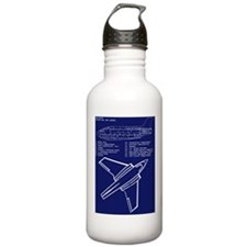 Sky Queen Blueprint Water Bottle