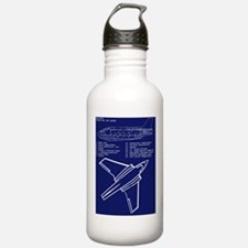 Sky Queen Blueprint Water Bottle