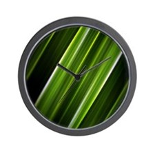 lime green lines abstract geometric pat Wall Clock