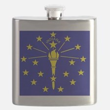 Indiana State Flag 1 Flask