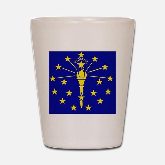 Indiana State Flag 1 Shot Glass