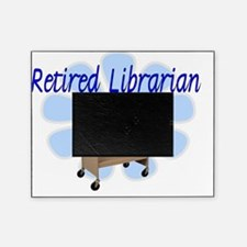retired Librarian Cart Design Picture Frame