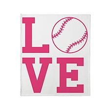love-softball Throw Blanket