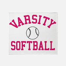 softball-varsity Throw Blanket