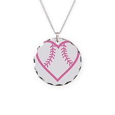 softball-heart-pink Necklace