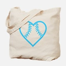 softball-heart-blue Tote Bag