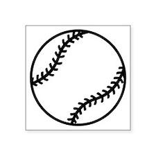 """softball-one-color Square Sticker 3"""" x 3"""""""