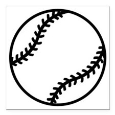 "softball-one-color Square Car Magnet 3"" x 3"""