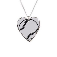 softball-one-color Necklace Heart Charm