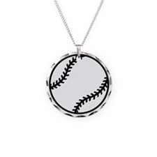 softball-one-color Necklace Circle Charm