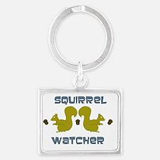 squirrel watcher Landscape Keychain
