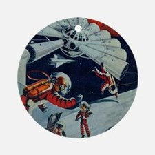 Outpost in Space Tom Swift Junior Round Ornament