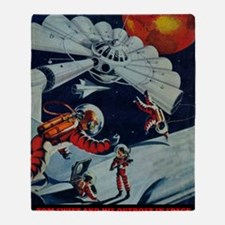 Outpost in Space Tom Swift Junior Throw Blanket