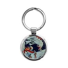 Outpost in Space Tom Swift Junior Round Keychain