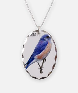 Western Bluebird Necklace