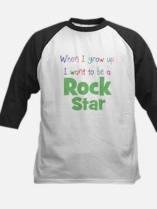 When I Grow Up Rock Star Kids Baseball Jersey