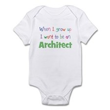 When I Grow Up Architect Infant Bodysuit