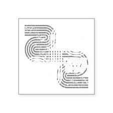 """lost-drive_shaft-02b Square Sticker 3"""" x 3"""""""