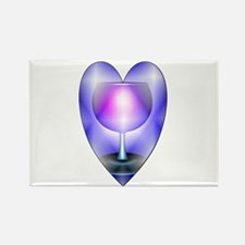 Ace of cups hearts Rectangle Magnet