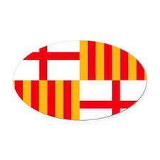 barcelona1 Oval Car Magnet
