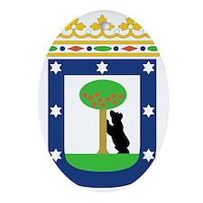 MadridCoat1 Oval Ornament