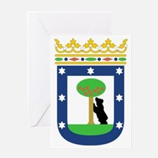 MadridCoat1 Greeting Card