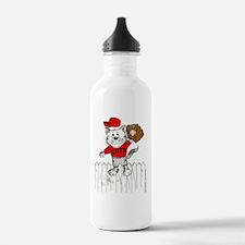 Outfielder Cat in Colo Water Bottle