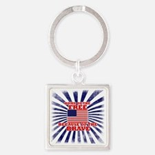 Home of the free because of the br Square Keychain