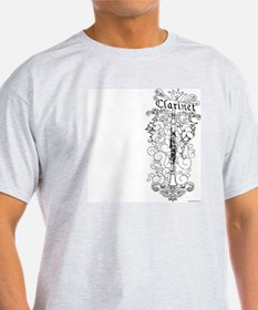 Scateboard Style Clarinet Ash Grey T-Shirt