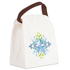 Blue Survivor Canvas Lunch Bag