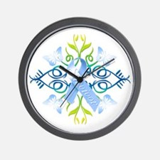 Blue Survivor Wall Clock