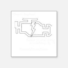 """Check Enginewhite Square Sticker 3"""" x 3"""""""