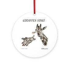 giraffes_cafepress Round Ornament