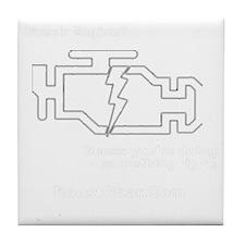 Check Enginewhite Tile Coaster