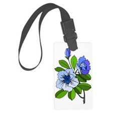 Blue Flowers 4 Luggage Tag