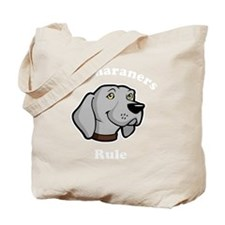 Weimaraners-Rule-dark Tote Bag