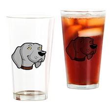 Weimaraners-Rule-dark Drinking Glass
