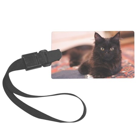 black-cooncp Large Luggage Tag