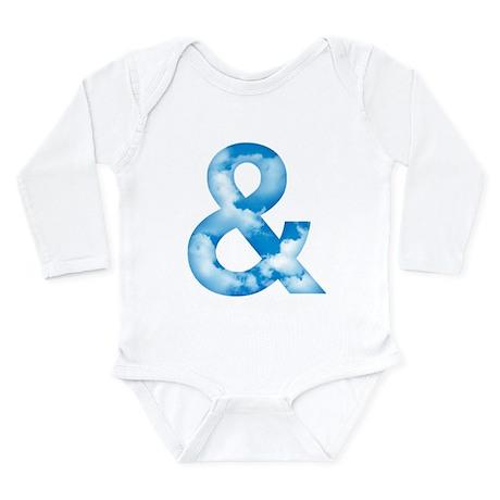Cloud Ampersand Long Sleeve Infant Bodysuit