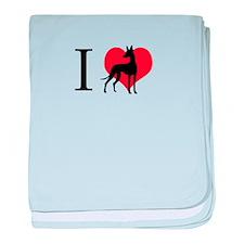 I Love Podencos baby blanket