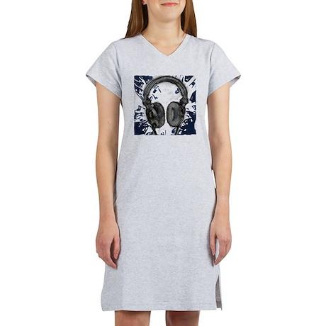 headphones abstract Women's Nightshirt